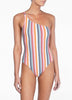 Rainbow One Shoulder One Piece