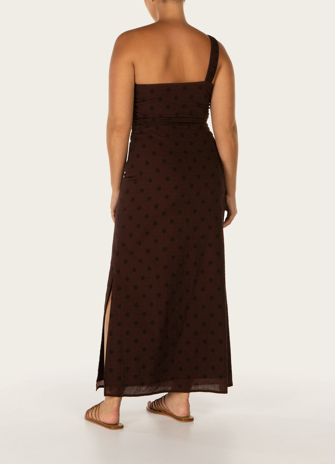 Raisin One Shoulder Midi Dress