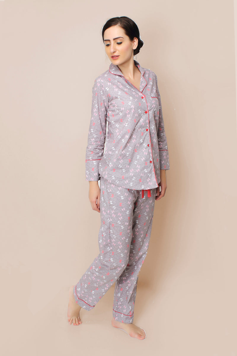 Bow Cotton Pyjama