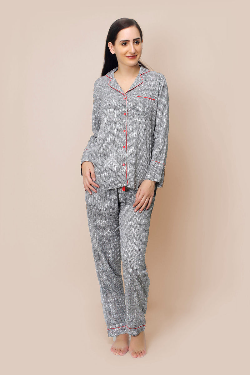 White Cotton Pyjama Set