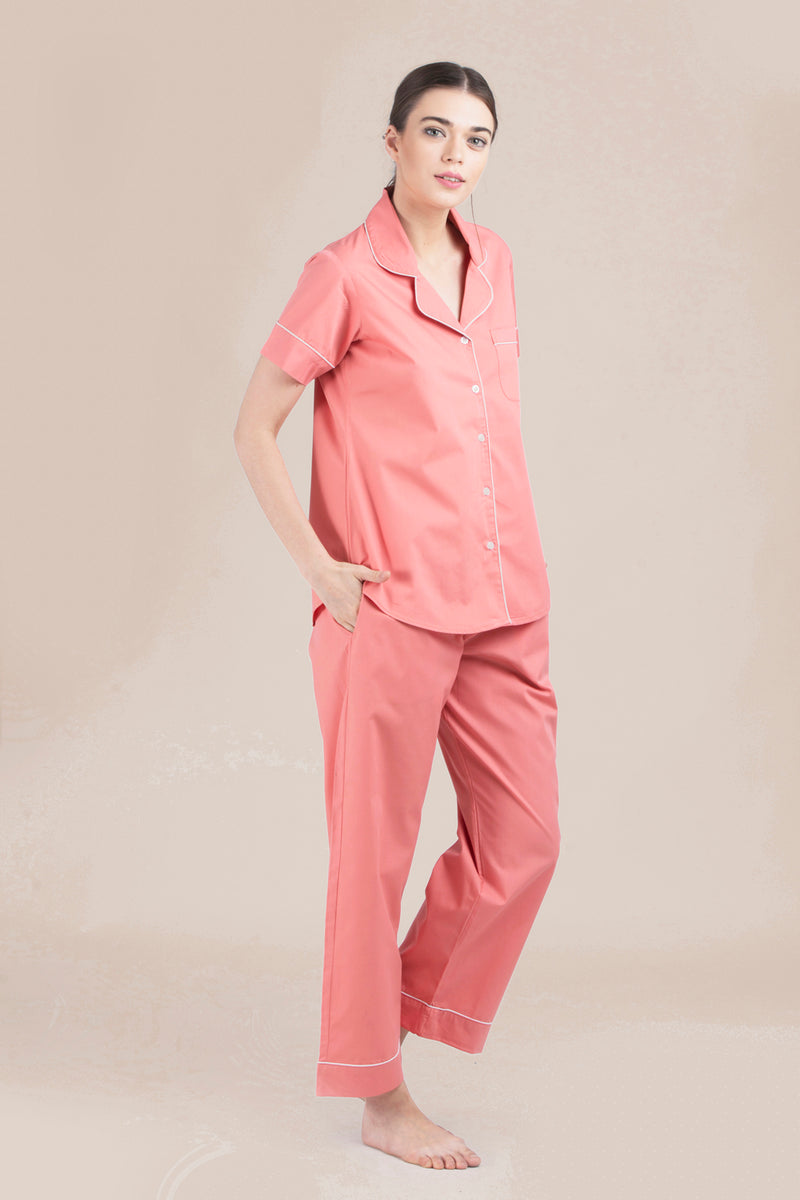 Coral Classic Long Pant Set