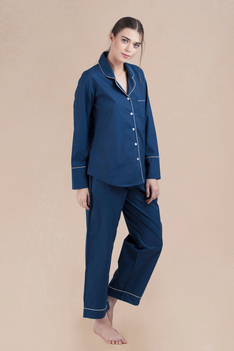 Classic Navy Long Pant Set