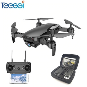 Teeggi M69 FPV Drone with 720P Wide-angle WiFi Camera HD Foldable RC Mini Quadcopter Helicopter