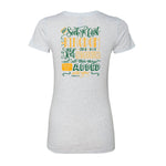 PTF Ladies Fitted Heather White Tee