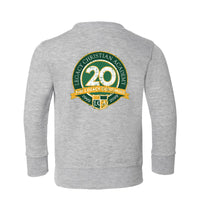 20th Anniversary Toddler Fleece Crewnneck Sweatshirt