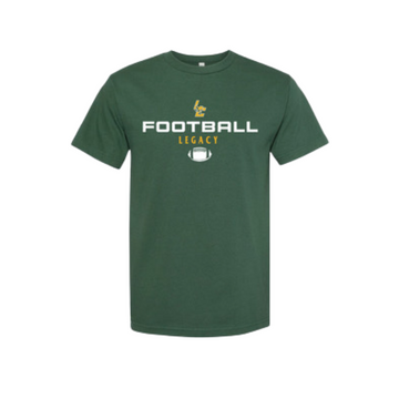 Athletics Green Football Tee