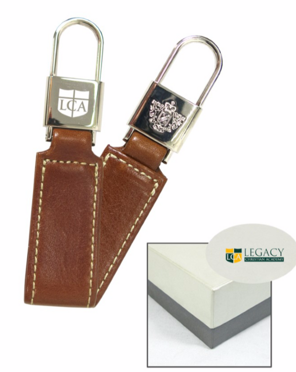 ***PRE-ORDER***Chapman Key Fob British Tan Florentine Leather