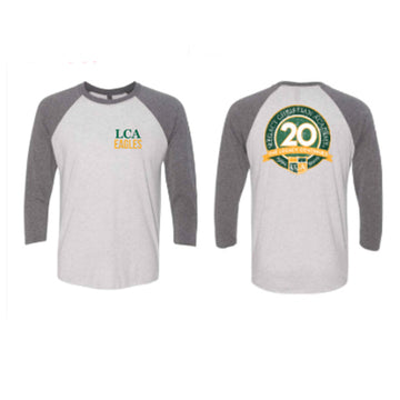 20th Anniversary Heather Raglan Tee