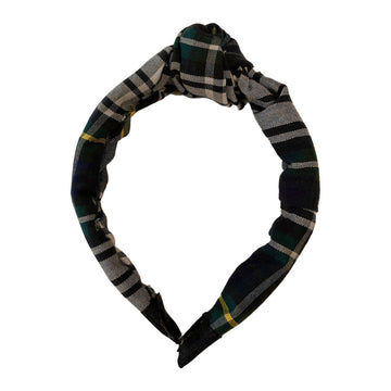 Knot Plaid Headband