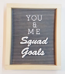 Squad Goals Monka! Letter Board Words