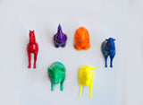Rainbow Farm Animal Magnet Set (6pcs) - Monka! Goods