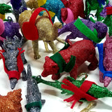 Monka! Christmas Ornaments, Dinosaur Ornaments, Animal Ornaments, Glitter Ornaments