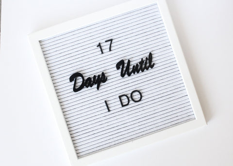 Letter Board Days Set (5pcs)