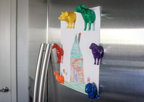 Rainbow Farm Animal Magnet Set (6pcs)