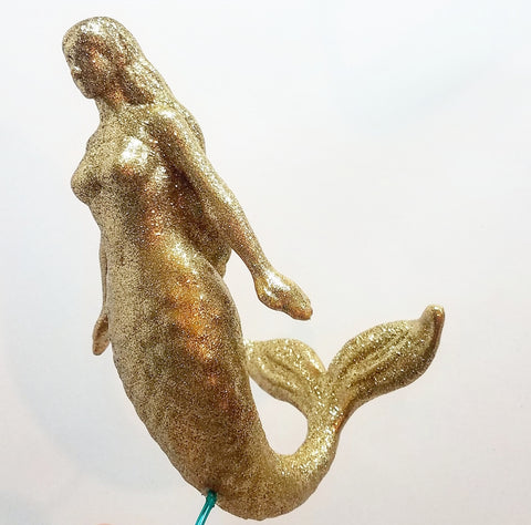 Christmas Tree Topper, Mermaid Tree Topper, Glitter Tree Topper, Mermaid Christmas Tree