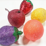Glitter Fruit Ornaments, Glitter Fruit, Fruit Ornaments, Christmas Fruit Ornaments