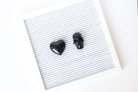 Letter Board Skull & Heart Set (2pcs)