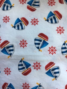 bassinet fitted sheet baby nursery sailing boats sail cotton fitted