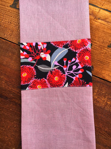 Linen Tea Towel - Australian Flora and Fauna
