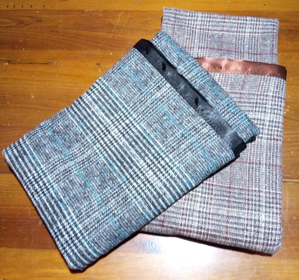 Beautiful soft rugs for baby or for your lap. Made from wool blend flannel, warm, soft and lightweight. Generous size.