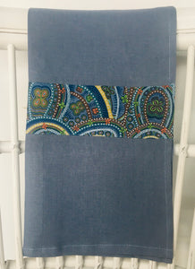Linen Tea Towel - Australian Indigenous Designs