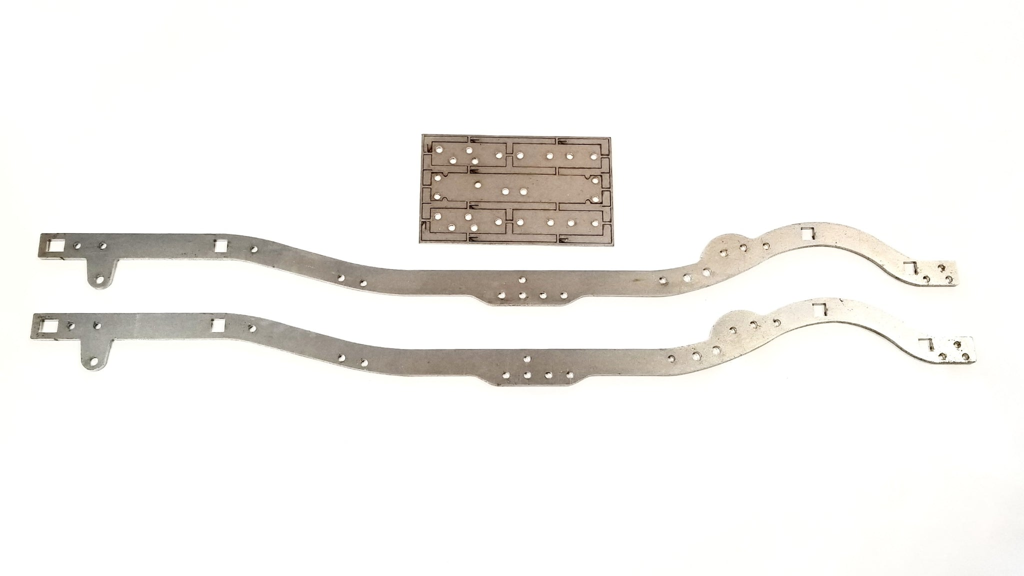 CBE RC FAB TF2 CHASSIS RAILS  ( raw steel )