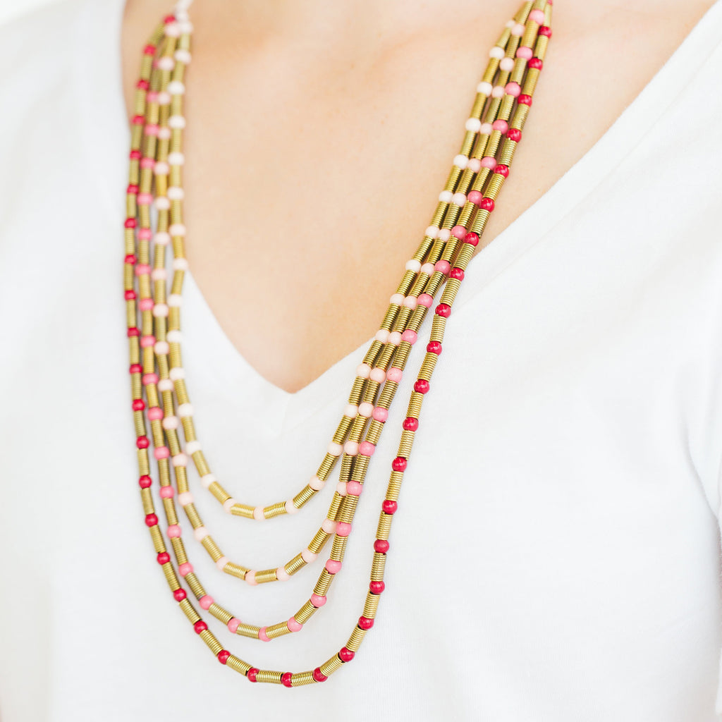 Ariel Necklace - Stripe & Petal Jewelry