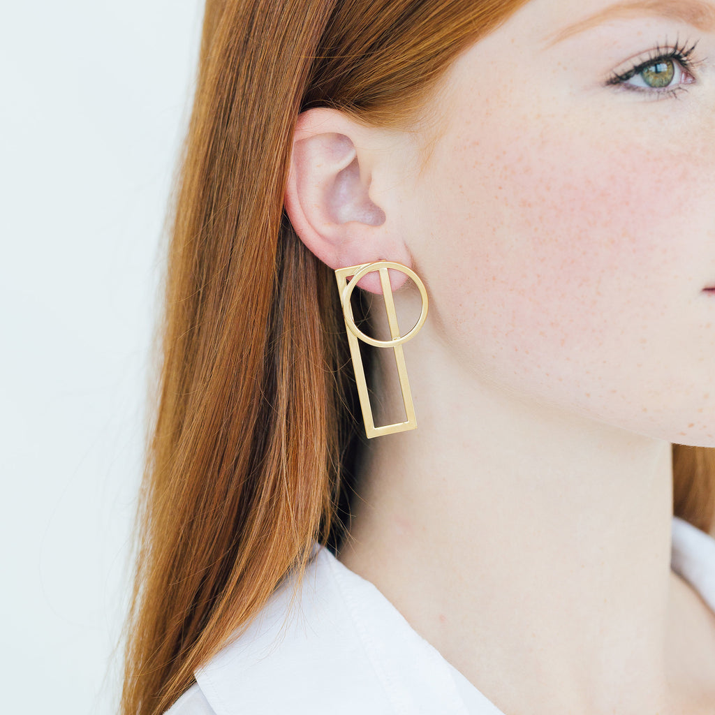 Nora Earrings - Stripe & Petal Jewelry