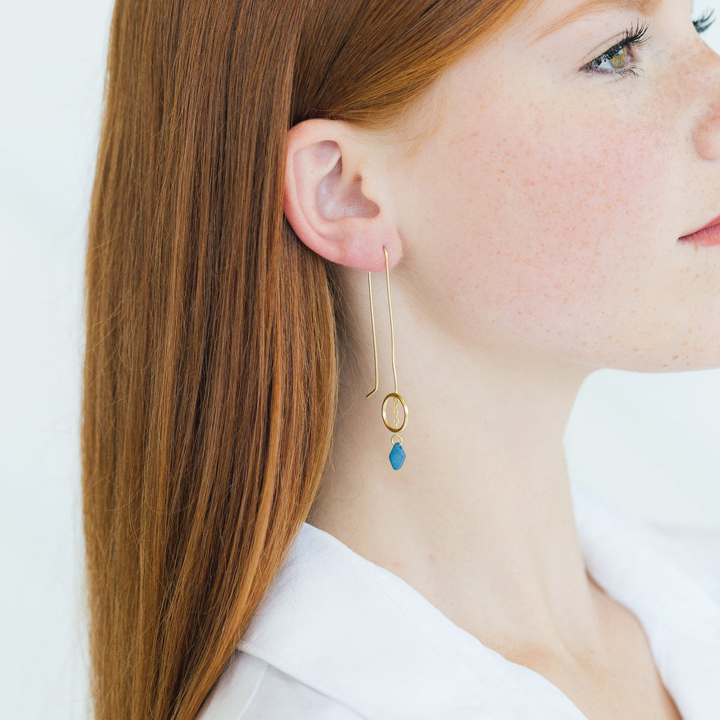 Olita Earrings - Stripe & Petal Jewelry