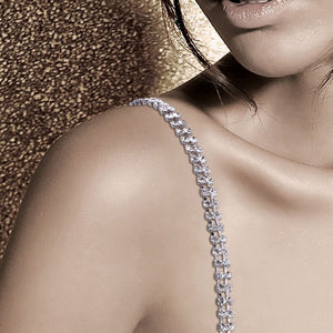 "Double Crystal Bra Straps ""Oh My Glam"" Bra Essentials"