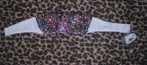 "Multi Colour Diamonds ""Candy"" Strapless Style"
