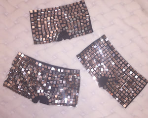 "Mirror Ball ""Disco"" HotPants Mini Shorts"