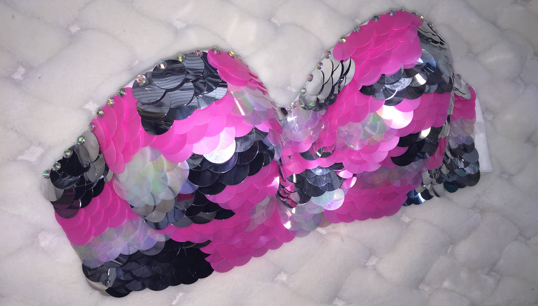 Barbie Pink & Silver & Crystal Sequin