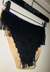 "Black Fringe & Crystal  ""Shake It"" Mini Style"