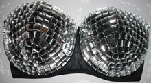 "Mirror Ball ""Disco"" Style Black Strapless"
