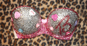 "Pink & Crystal Diamonds ""Barbie"" Strapless Style"