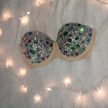 "Multi Colour Diamonds ""Kaleidoscope"" Strapless Style"