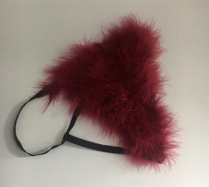 "Burgundy ""Whipped"" Feathers G Style"