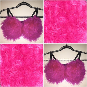 "Hot Pink ""Whipped"" Feathers T-Shirt Style"