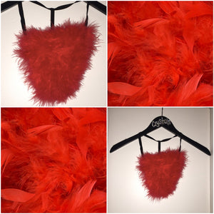 "Red ""Whipped"" Feathers G Style"