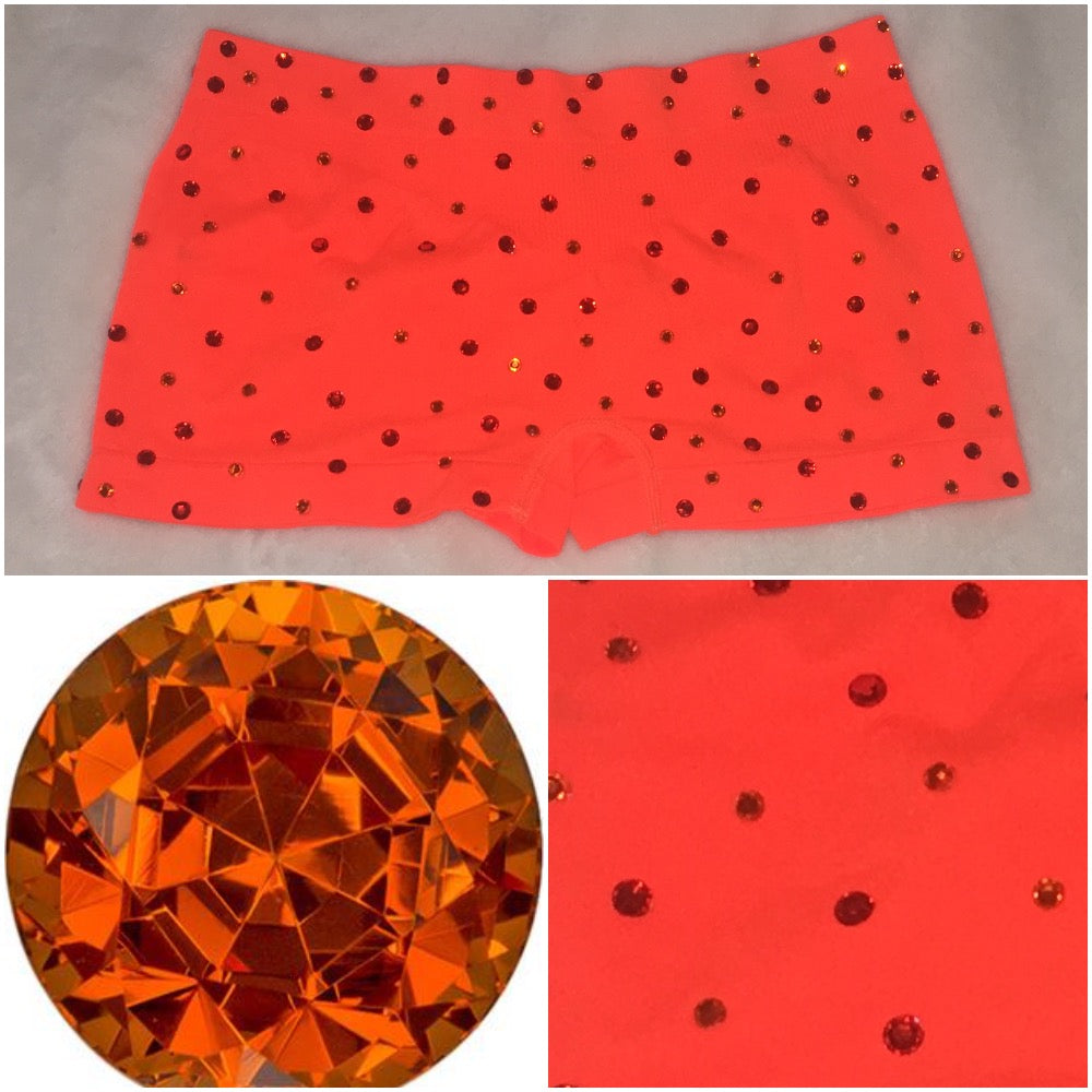 Sparkly Neon Orange Panties Rave Festival Dance Wear