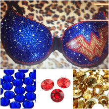 "Gold Blue & Red Diamonds ""WonderWoman"" Classic T-Shirt Style"