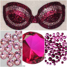 Triple threat Pink Crystal Bra Victorias Secret Classic Logo