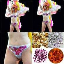 "Gold Orange & Pink Tones Crystal AB  ""Rio"" Mini Style"