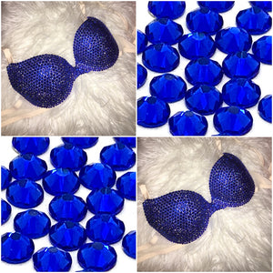 """SALE"" Sapphire Blue Diamonds ""Bombshell""  T-Shirt Style 34A"