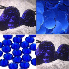 "Sapphire Blue Petrol & Crystal AB Sequin ""Dragon Slayer"" Strapless Style"