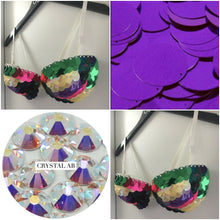 "Rainbow & Crystal Sequin ""Dragon Slayer"" Strapless Style"