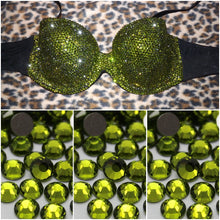 "Olive Green Luxury Diamonds ""Bombshell"" Strapless Style"
