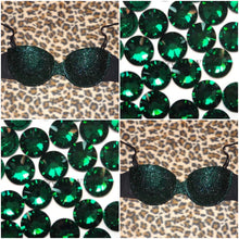 "Forest Green Luxury Diamonds ""Bombshell"" Strapless Style"