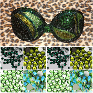 "Emerald Peridot & Olive Green Diamonds ""Fantasy"" Strapless Style"